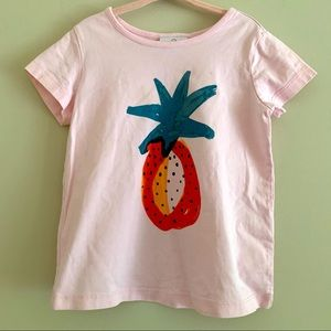 Hanna Andersson pink pineapple t shirt size 5